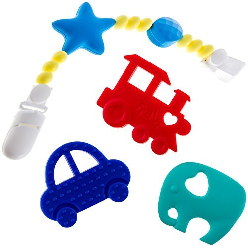 Beabies Teething Toy with Pacifier Clip