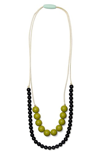 Mama & Little Deila Silicone Baby Teething Necklace for Moms – Nursing Necklace in Sweet Pea – Teething Beads and Baby Teething Toys