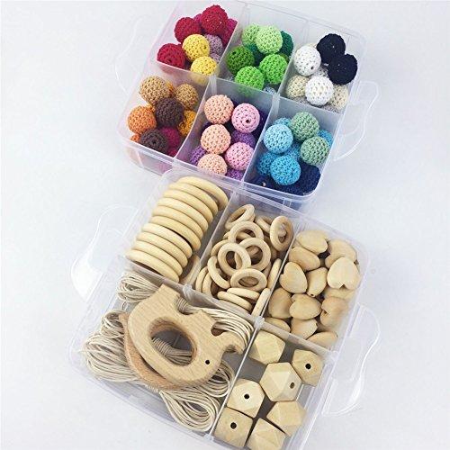 Baby Teether Wood Diy Animal Rattle Organic Teether Jungle Toy Wooden Waldorf Toys Wooden Teether DIY Accessories
