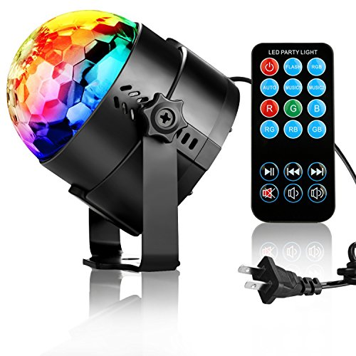 NIUBIER Disco Lights Disco Ball Sound Activated Party Light LED Dj Light For Home Room Dance Parties Kids Birthday DJ Bar Karaoke Wedding Show Club Night Light