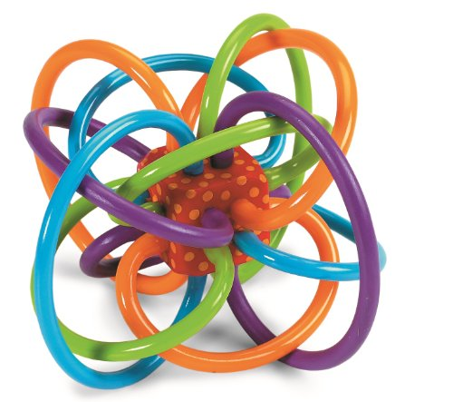 Manhattan Toy Winkel Rattle and Sensory Teether Activity Toy, 5L x 3.5H x 4W-Inch