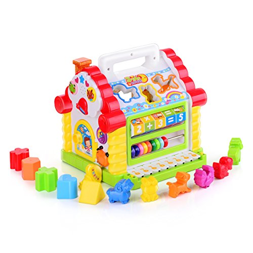 TOYK Kids toys Musical Colorful Baby Fun House, Many Kinds Of Music, – girls boys toddlers and baby toys-,Electronic Geometric Blocks Learning Educational Toys