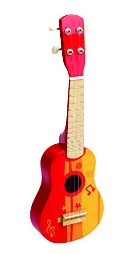 Hape Kid's Wooden Toy Ukulele in Red