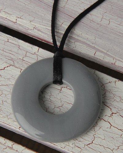 Teethease Original Pendant Toy, Grey Marble