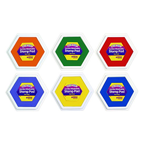 Colorations Classic Colors Jumbo Washable Stamp Pads – Set of 6 (Item # JSP)