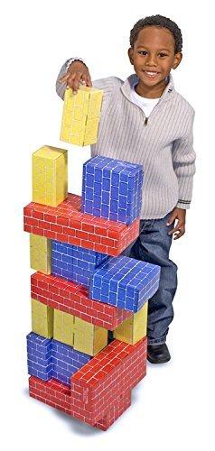 Melissa & Doug Learning Toy Deluxe Jumbo Cardboard Blocks 40 Pcs Playset Toy for Kids