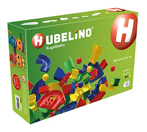 HUBELINO Marble Run – 120-Piece Run Elements Expansion Set – the Original! Made in Germany! – Certified and Award-Winning Marble Run – 100% compatible with Duplo