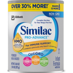 Similac Pro-Advance Infant Formula with 2′-FL Human Milk Oligosaccharide (HMO) for Immune Support, Powder, 30.8 Ounces