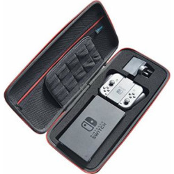 Liboer Hard Shell Travel Carrying Protective Case with 10 Game Cartridge Holder for Nintendo Switch Console Dock Joy-Con Grip Adapter