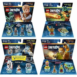 Portal 2 Level Pack + Scooby Doo Team Pack + Jurassic World Team Pack + The Legend Of Chima Cragger Fun Pack – LEGO Dimensions – Not Machine Specific
