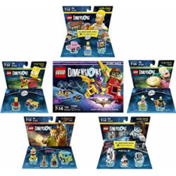 LEGO Batman Movie Story Pack + The Simpsons Homer Level Pack + Bart Simpson + Krusty + Scooby Doo Team Pack + Portal 2 Level Pack – LEGO Dimensions – Not Machine Specific