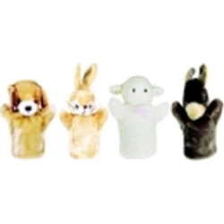 Get Ready Kids Lamb – Puppy, Bunny And Donkey Farm Animal Puppet Set