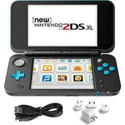 New Nintendo 2DS XL 3 Items Bundle: New Nintendo 2DS XL – Black + Turquoise Console, USB Sync Charge USB Cable and Mytrix Travel USB Wall Charger