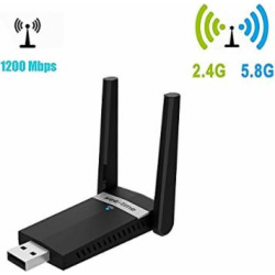 See-time Wireless Wifi Dual Band USB 3.0 Adapter with Dual High Gain Antennas for Windows 7/8/10/XP/Vista,Linx2.6X and Mac OSX (5D11)