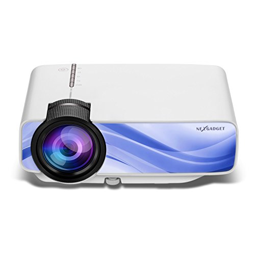 NEXGADGET YGLife Mini Video Projector, Multimedia Home Portable Projector Support 1080P HDMI USB SD Card VGA AV for Entertainment Game Party Home Cinema Theater