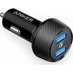 anker quick charge 30 39w dual usb car charger powerdrive speed 2 for 1 -