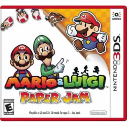 mario and luigi paper jam nintendo 3ds pre owned -