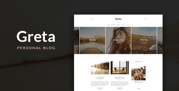 Greta – Modern Personal WordPress Blog Theme