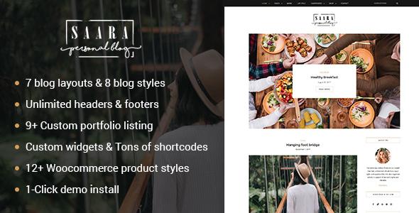Saara – Personal WordPress Blog Theme