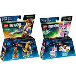 lego dimensions the lego movie fun pack bundle of 2 emmet fun pack 71212 -