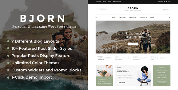 Bjorn – Personal WordPress Blog Theme