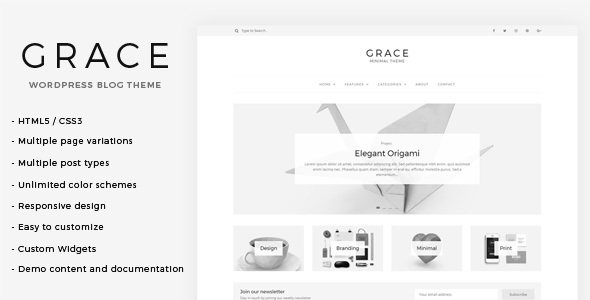 Grace – Minimal WordPress Blog Theme