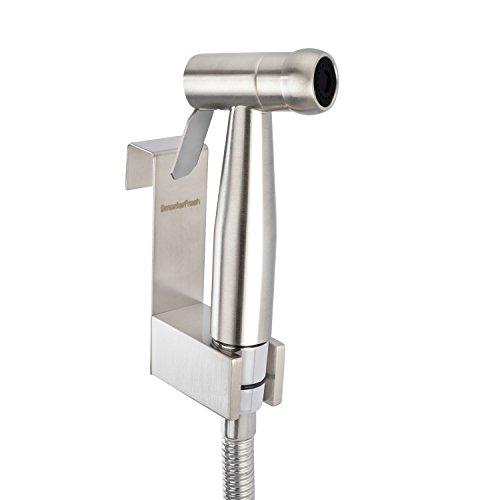 SmarterFresh Hand Held Bidet Sprayer, Premium Stainless Steel Diaper Sprayer Shattaf – Complete Bidet Set for Toilet, Hand Bidet Sprayer for Beday Toilet
