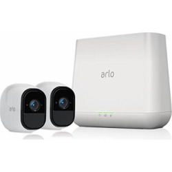 Arlo Pro by NETGEAR Security System with Siren – 2 Rechargeable Wire-Free HD Cameras with Audio, Indoor/Outdoor, Night Vision (VMS4230)