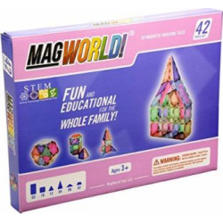 MagWorld Toys Pastel Magnetic Construction Set (42 Piece) by MagWorld Toys