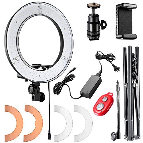neewer ring light 14 inch led with light stand 36w 5500k lighting kit with -