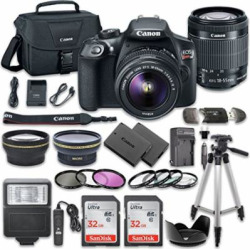 canon eos rebel t6 dslr camera bundle with canon ef s 18 55mm f35 56 is ii -