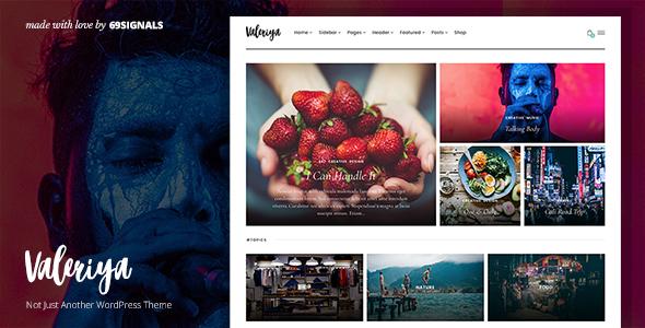 Valeriya – Classy Theme for WordPress