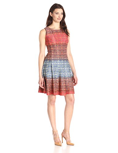 Julian Taylor Women's All Over Printed A-Line Dress