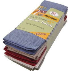 Eurow Microfiber Waffle Weave Kitchen Towels (10-pack)