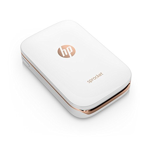HP Sprocket Portable Photo Printer, X7N07A, Print Social Media Photos on 2×3 Sticky-Backed Paper – White