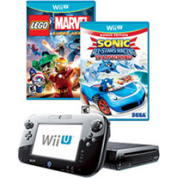 Wii U System 32GB Build and Drive GameStop Refurbished Bundle