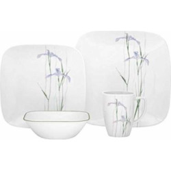 Corelle Square 32-Piece Dinnerware Set Shadow Iris Service for 8  sc 1 st  Allshopathome.com & Corelle Square 32-Piece Dinnerware Set Shadow Iris Service for 8 ...