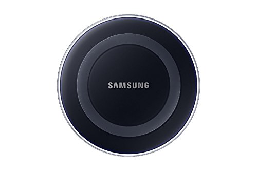 Samsung Qi Certified Wireless Charger Pad – Supports wireless charging on Qi compatible smartphones, with AC power adapter (US Version w/Warranty) – Black