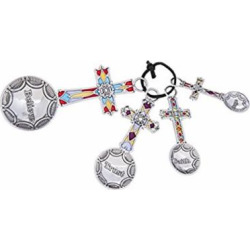 Ganz 4-Piece Measuring Spoons Set – Crosses
