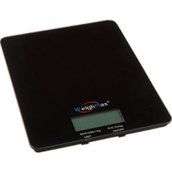 weighmax gb25 tempered glass digital mailing and food kitchen scale -
