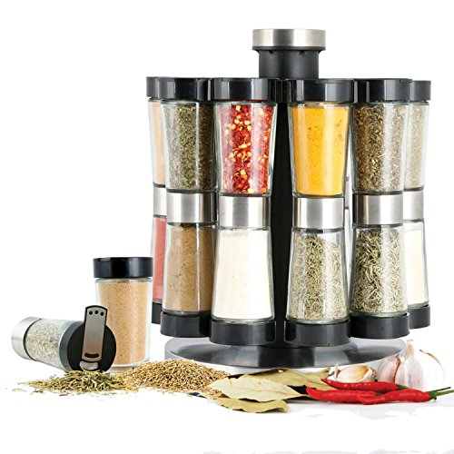 orii gsr2520 hourglass kitchen spice rack silver 12 -