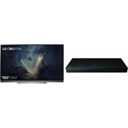 LG Electronics OLED65E7P 65-Inch 4K Ultra HD Smart OLED TV and UP970 Blu-ray Player (2017 Model)