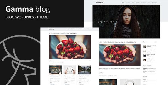 Gamma-blog – Modern WordPress Blog Theme