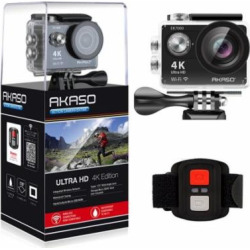 AKASO 4K WIFI Sports Action Camera Ultra HD Waterproof DV Camcorder 12MP 170 Degree Wide Angle EK7000-Black