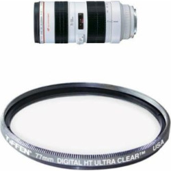 Canon EF 70-200mm f/2.8L USM Telephoto Zoom Lens for Canon SLR Cameras Filter Bundle