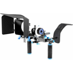 DSLR Rig Kit Shoulder Mount Rig with Follow Focus and Matte Box