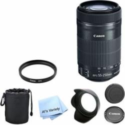 Canon EF-S 55-250mm f/4.0-5.6 IS STM Telephoto Zoom Lens Bundle
