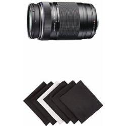 Olympus MSC ED-M 75 to 300mm II f4.8-6.7 Zoom Lens w/ AmazonBasics Microfiber Cloths