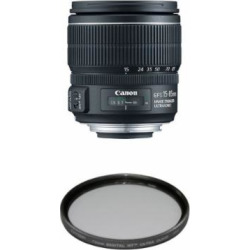 Canon EF-S 15-85mm f/3.5-5.6 IS USM UD Standard Zoom Lens for Canon Digital SLR Cameras Filter Bundle