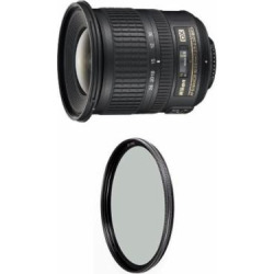 Nikon 10-24mm f/3.5-4.5G ED Auto Focus-S DX Nikkor Wide-Angle Zoom Lens for Nikon Digital SLR Cameras w/ B+W 77mm XS-Pro HTC Kaesemann Circular Polarizer